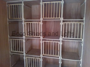 Hen Boxes dowel fronts